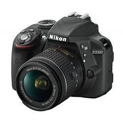 Nikon D3300 + Nikkor AF-P 18/55VR, Fotocamera Reflex Digitale, 24,2 Megapixel, LCD 3